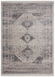 Casa Padrino vintage living room carpet beige / silver - Different Sizes - Rectangular Carpet - Decorative Accessories