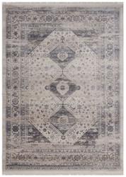 Casa Padrino Vintage Wohnzimmer Teppich Beige / Silber - Verschiedene Größen - Rechteckiger Teppich - Deko Accessoires