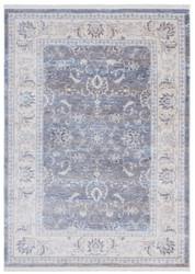 Casa Padrino Wohnzimmer Teppich Grau - Verschiedene Größen - Rechteckiger Teppich im Vintage Look - Wohnzimmer Deko