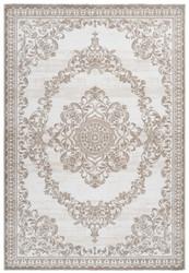 Casa Padrino Wohnzimmer Teppich Beige - Verschiedene Größen - Rechteckiger Teppich im Vintage Design - Deko Accessoires