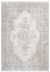Casa Padrino Teppich Vintage Cremefarben - Verschiedene Größen - Rechteckiger Teppich im Vintage Look - Wohnzimmer Deko Accessoires