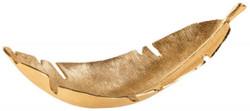 Casa Padrino designer bowl in leaf shape gold 62 x 20 x H. 20 cm - Decorative Leaf Bowl - Decorative Accessories