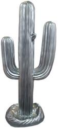 Casa Padrino designer sculpture cactus silver 84 x H. 185 cm - Weatherproof Garden Decoration