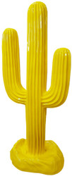 Casa Padrino designer sculpture cactus yellow 84 x H. 185 cm - Weatherproof Garden Decoration