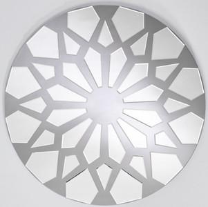 Casa Padrino designer wall mirror gray Ø 100 cm - Modern design mirror - Wardrobe mirror - Living room mirror - Luxury Collection