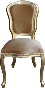 Casa Padrino Barock Luxus Esszimmer Stuhl Louis Gold / Gold - Barock Möbel – Bild 1