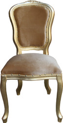 Casa Padrino Baroque luxury dining chair Louis Gold / Gold - Baroque furniture