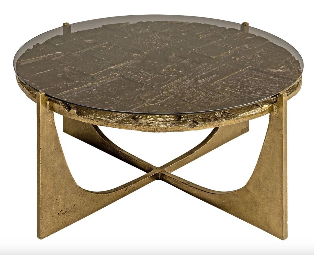 - Casa Padrino Luxury Art Deco Coffee Table Bronze 74 X 38 Cm - Gold