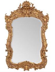 Ornate Casa Padrino baroque mirror gold 188 x 120 cm with angel motifs - antique style - heavy version