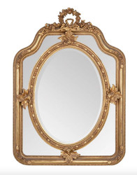Casa Padrino baroque mirror gold 90 x H 120 cm - wall mirror antique style living room furniture