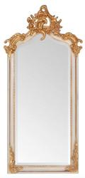 Casa Padrino Barock Spiegel Antik Stil Creme / Gold 115 x 48 cm - Möbel Wandspiegel