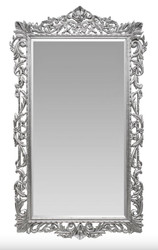 Casa Padrino baroque wall mirror silver 115 x H. 202 cm - baroque style mirror antique style furniture