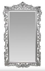 Casa Padrino Barock Wandspiegel Silber 115 x H. 202 cm - Barockstil Spiegel Antik Stil Möbel