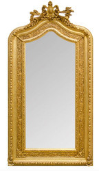 Ornate Casa Padrino baroque wall mirror 108 x H. 207 cm - baroque mirror