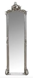 Casa Padrino Barock Wandspiegel Silber 54 x H. 172 cm - Wohnzimmer Spiegel Antik Stil Möbel