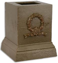 Casa Padrino Barock Deko Sockel Braun 17,1 x 17,1 x H. 19,8 cm - Gusseisen Sockel im Barockstil - Barock Deko Accessoires