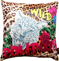 Harald Glööckler Designer Decorative Pillow Pompöös by Casa Padrino Leopard - Art Collection -