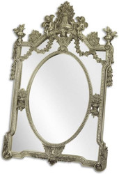 Casa Padrino baroque mirror silver 105 x H. 160 cm - Wardrobe mirror - Living room mirror - Magnificent wall mirror in baroque style