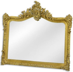 Casa Padrino baroque mirror gold 111 x H. 103 cm - Wardrobe mirror - Living room mirror - Magnificent wall mirror in baroque style