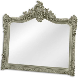 Casa Padrino baroque mirror silver 111 x H. 103 cm - Wardrobe mirror - Living room mirror - Magnificent wall mirror in baroque style