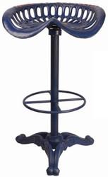 Casa Padrino Art Nouveau bar stool blue H. 78.5 cm - Cast iron bar stool in rustic industrial design - Garden & Patio Furniture