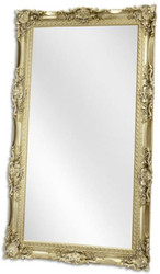 Casa Padrino baroque mirror silver 118.5 x H. 208.5 cm - Wardrobe mirror - Living room mirror - Magnificent wall mirror in baroque style
