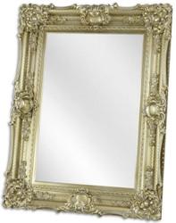 Casa Padrino Barock Spiegel Silber 92 x H. 122,5 cm - Garderoben Spiegel - Wohnzimmer Spiegel - Barock Möbel