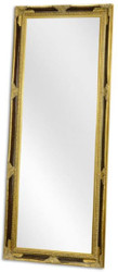 Casa Padrino baroque mirror black / gold 78 x H. 198 cm - Wardrobe mirror - Living room mirror - Baroque Furniture