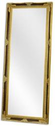 Casa Padrino Barock Spiegel Schwarz / Gold 78 x H. 198 cm - Garderoben Spiegel - Wohnzimmer Spiegel - Barockmöbel