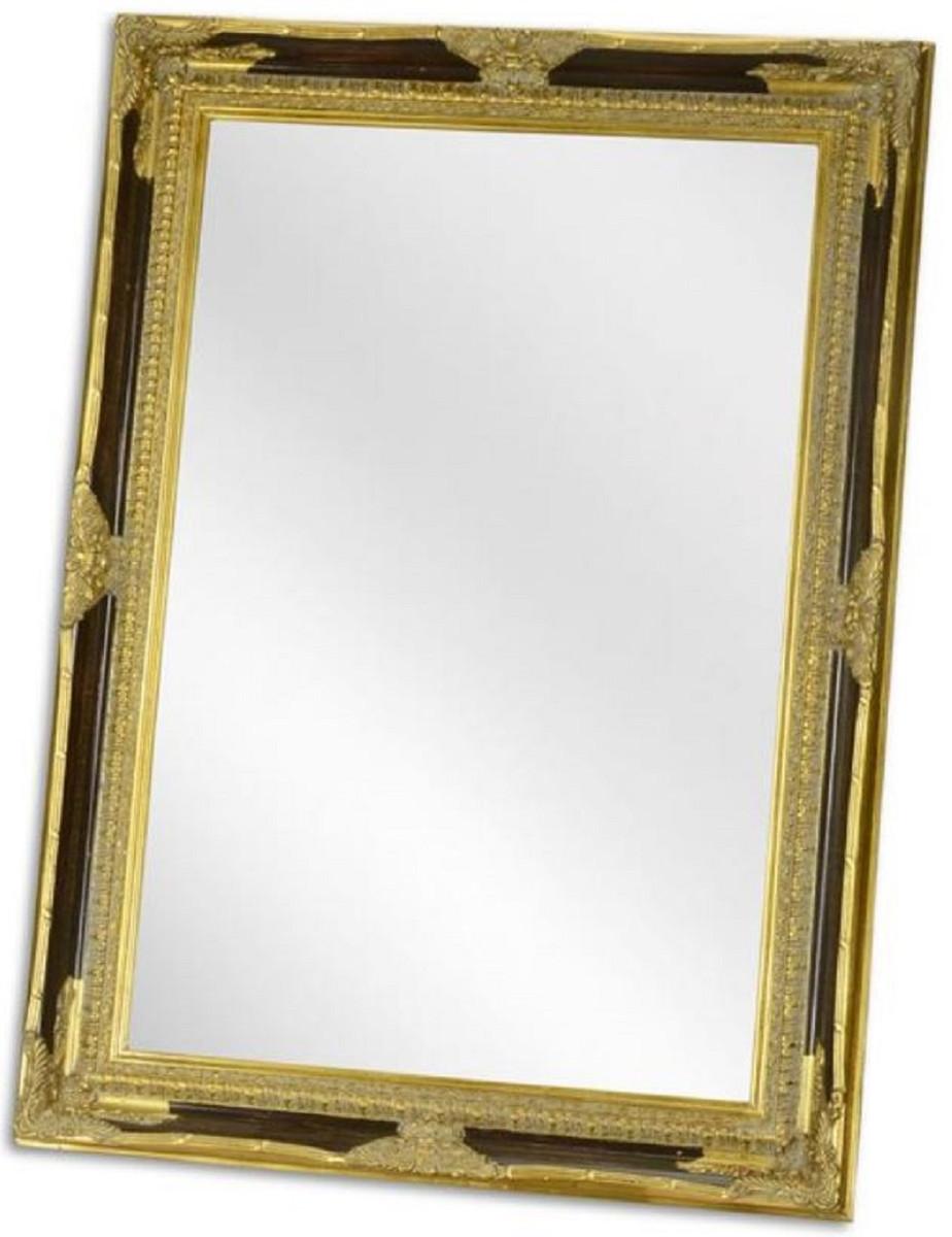Casa Padrino Barock Spiegel Schwarz / Gold 6 x H. 6 cm - Garderoben  Spiegel - Wohnzimmer Spiegel - Barockmöbel