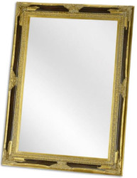 Casa Padrino baroque mirror black / gold 78 x H. 108 cm - Wardrobe mirror - Living room mirror - Baroque Furniture