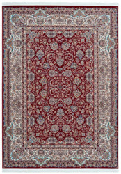 Casa Padrino luxury synthetic fiber carpet with fringes red - Different Sizes - Rectangular living room carpet in oriental style