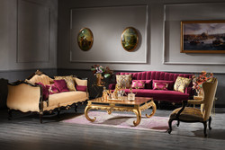 Casa Padrino Luxury Baroque Living Room Set - 2 Sofas & 2 Armchairs & 1 Coffee Table - Baroque Furniture - Noble & Ornate - Luxury Quality - Made in Italy