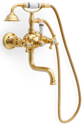 Casa Padrino Art Nouveau Bathtub Tap with Hose and Hand Shower - Different Colors - Neoclassical Bathroom Accessories - Luxury Bathroom Accessories