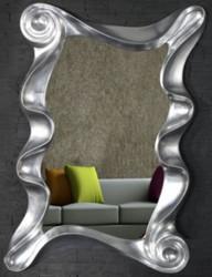 Casa Padrino Designer Wandspiegel Silber 106 x 7 x H. 160 cm - Moderner Wohnzimmer Spiegel - Garderoben Spiegel - Designer Möbel