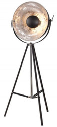 Casa Padrino designer studio lamp black / silver 55 x H. 160 cm - Retro tripod floor lamp - Living room decorative lamp