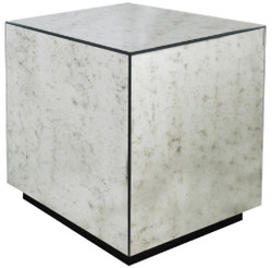 Casa Padrino luxury side table 50 x 50 x H. 60 cm - Square table with antique mirror glass - Luxury Collection