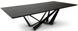 Casa Padrino luxury dining table black 240 x 120 x H. 76 cm - Rectangular kitchen table with solid wood table top - Luxury dining room furniture