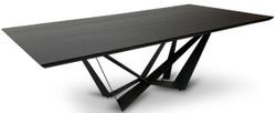 Casa Padrino Luxus Esstisch Schwarz 240 x 120 x H. 76 cm - Rechteckiger Küchentisch mit Massivholz Tischplatte - Luxus Esszimmer Möbel