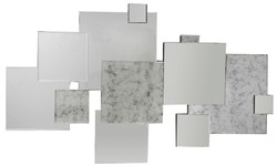 Casa Padrino designer wall mirror 120 x H. 72 cm - Modern living room mirror - Luxury wall decoration