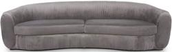 Casa Padrino luxury velvet couch gray 250 x 101 x H. 74 cm - Elegant living room sofa - Luxury Furniture