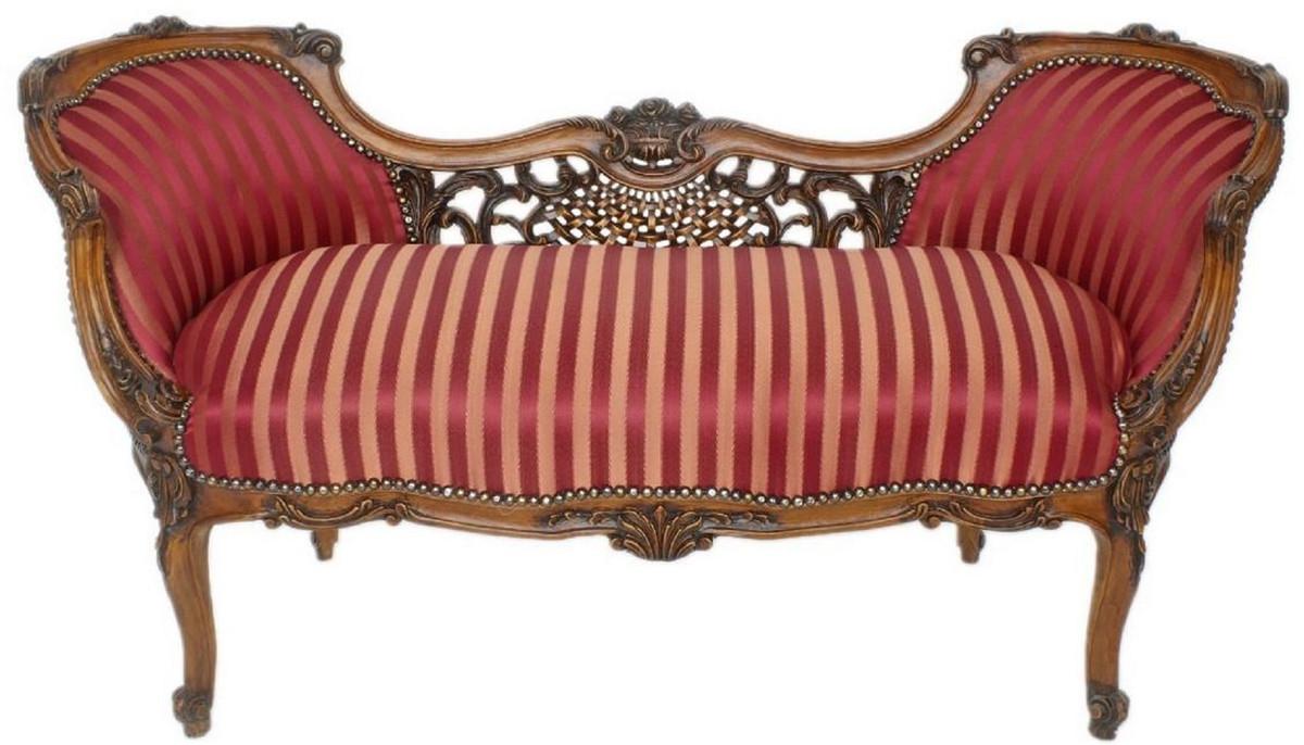 70 cm Antikstil Sitzbank Casa Padrino Barock Sitzbank Hellt/ürkis Muster//Gold 90 x 50 x H