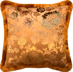 Luxus Kissen Pompöös by Casa Padrino von Harald Glööckler Elegance Collection Barock Muster Gold / Gold 50 x 50 cm - Luxuskissen