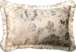 Luxury pillow Pompöös by Casa Padrino by Harald Glööckler Elegance Collection baroque pattern cream / cream 35 x 55 cm - luxury pillow