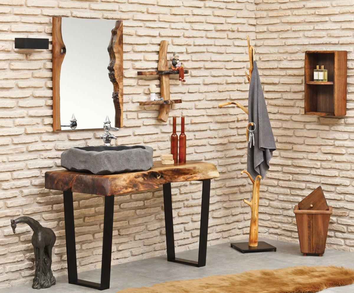 Casa Padrino Designer Bathroom Set, Real Wood Bathroom Furniture