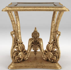 Casa Padrino luxury baroque side table antique gold 70 x 70 x H. 70 cm - Magnificent table in baroque style - Baroque living room furniture