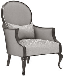 Casa Padrino luxury baroque living room armchair with elegant pattern silver / gray / black 80 x 70 x H. 103 cm - Living room furniture in baroque style