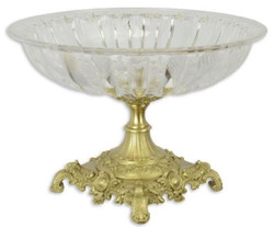 Casa Padrino baroque bowl gold Ø 39.5 x H. 27 cm - Round fruit bowl in baroque style - Baroque decoration accessories