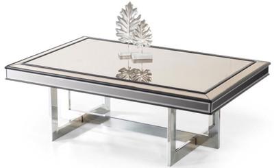 Glasplatte 120 X 80 : casa padrino luxus couchtisch silber 120 x 80 x h 43 cm wohnzimmertisch mit glasplatte und ~ Watch28wear.com Haus und Dekorationen