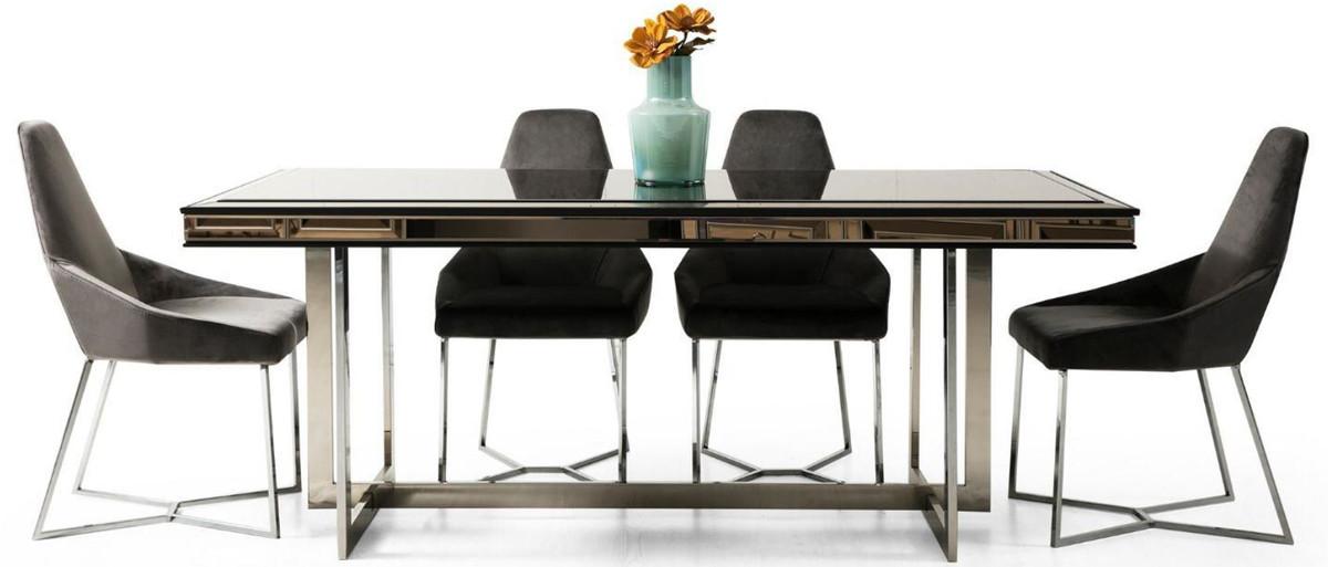 Casa Padrino Luxury Dining Room Set, 6 Dining Room Chairs